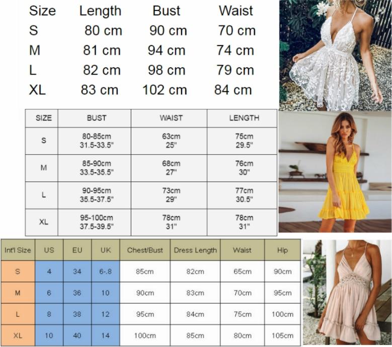 Womens V-Neck Spaghetti Strap Bowknot Backless Sleeveless Lace Mini Swing Skater Dress 6