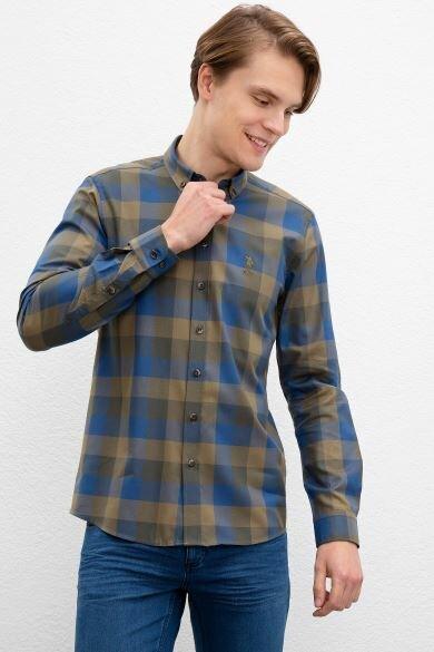 U.S. POLO ASSN. Khaki Square Slim Shirt
