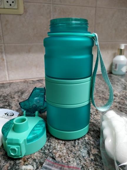 ZORRI Bottle For Water Protein Shaker Portable Motion Sports Water Bottle Bpa Free Plastic For Sports Camping Hiking Gourde Water Bottles    - AliExpress