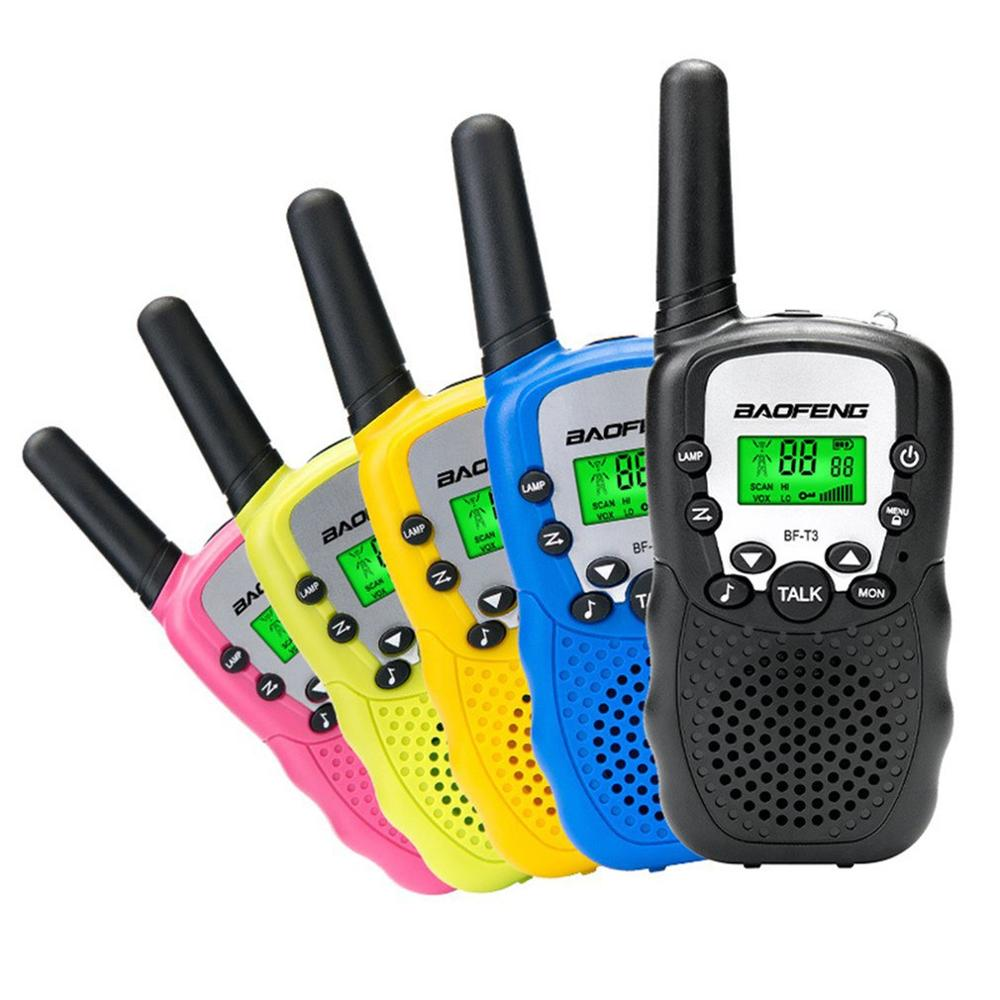 2 шт., портативная рация Baofeng BF-T3 Pmr446, лучший подарок для детей, радио, ручной T3 Мини беспроводной двухсторонний радиоприемник, детские игрушк...