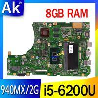 Akemy X556UQ Mianboard W/ 8G/i5-6200U GT940MX/2G For Asus X556UQK X556UQ X556UB X556UJ X556UF X556UV REV 3.1 노트북 마더 보드