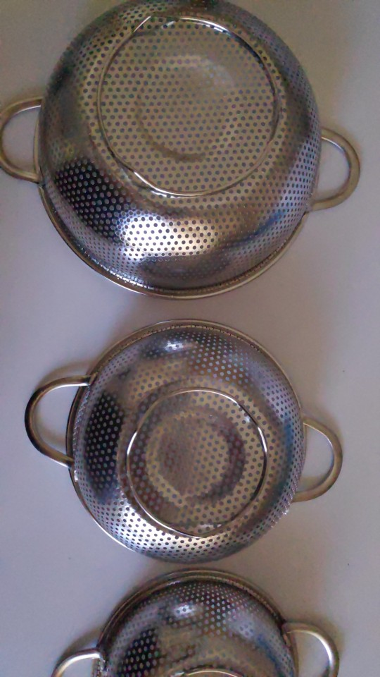Stainless Steel Colanders 3 Pieces Set photo review