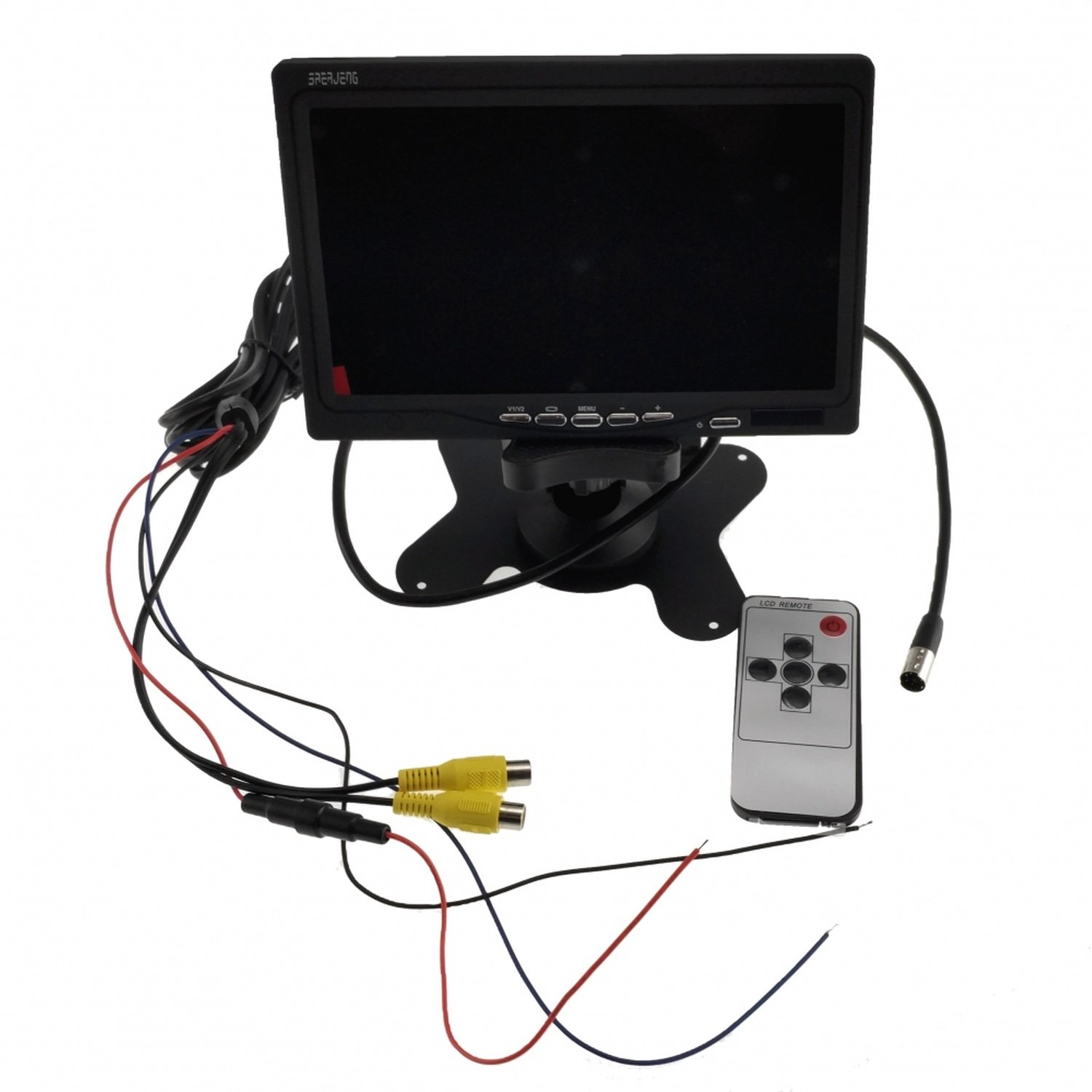 7 Inch Tft Color Lcd Car Rear View Camera Display Support Rotating The Screen And 2 Av Inputs
