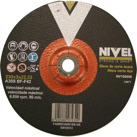 CUTTING DISC STEEL 230X3X22 LEVEL