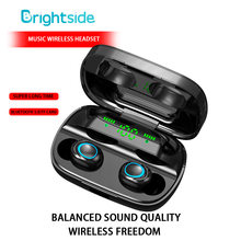 цена на TWS Bluetooth wireless Earphone 2200mAh Charging Box Stereo Earbuds Earphone Sports headphone For Mobile Phone