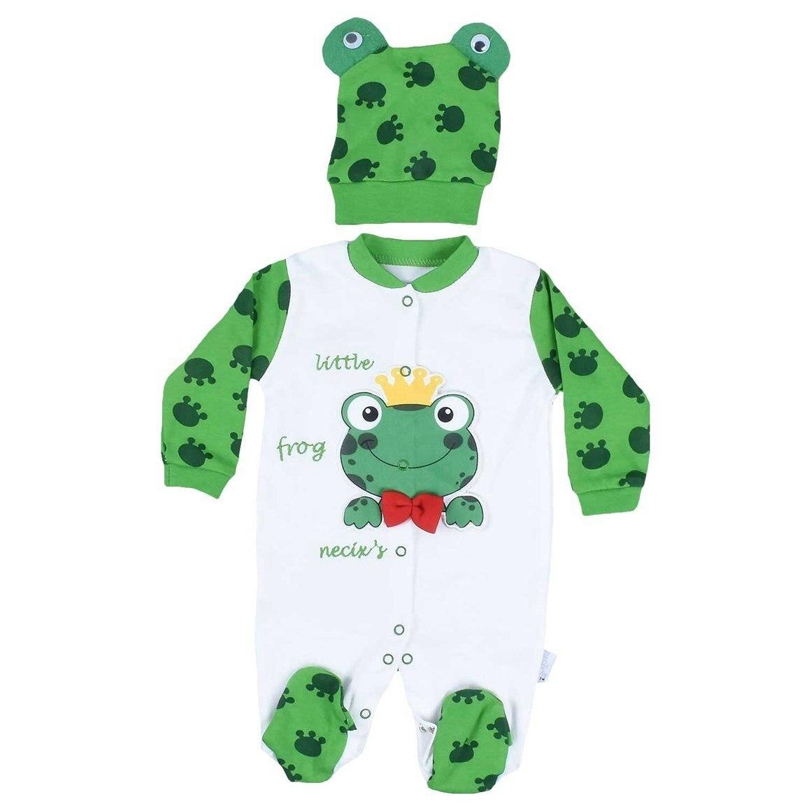 Frog Bruised Baby Rompers