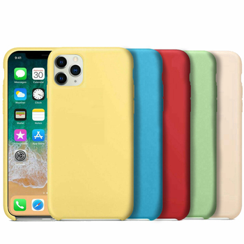 Case Apple for iPhone 11 11 Pro 11 Pro Max with logo original official soft silicone anti shock protection and scratches