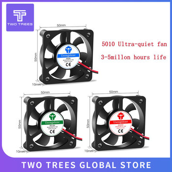 5010 DC5V/12V/24V 3D printer turbine Fan 5010 3d printer part fan 50mm (50*50*10mm) 2Pin Brushless Cooling Fan 5/12/24v Fan duct image