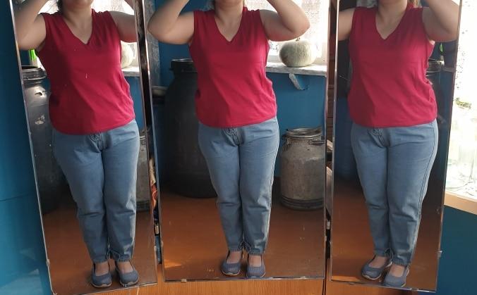 Jeans For Women  High Waist Mom Jeans   Plus Size Mom  Feminino Harem  Denim Pants  100Kg photo review