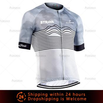 Koszulki kolarskie STRAVA koszulki MTB męskie koszulki kolarskie 2021 Summer Pro Road Bike Downhill odzież rowerowa koszulki rowerowe tanie i dobre opinie CN (pochodzenie) POLIESTER SHORT CM-DY-265 Wiosna Zamek na całej długości Cycling Pasuje na mniejsze stopy niezwykle Proszę sprawdzić informacje o rozmiarach ze sklepu