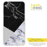 FunnyTech®Étui en Silicone pour Xiao mi mi 8 L Texture marbre combiné