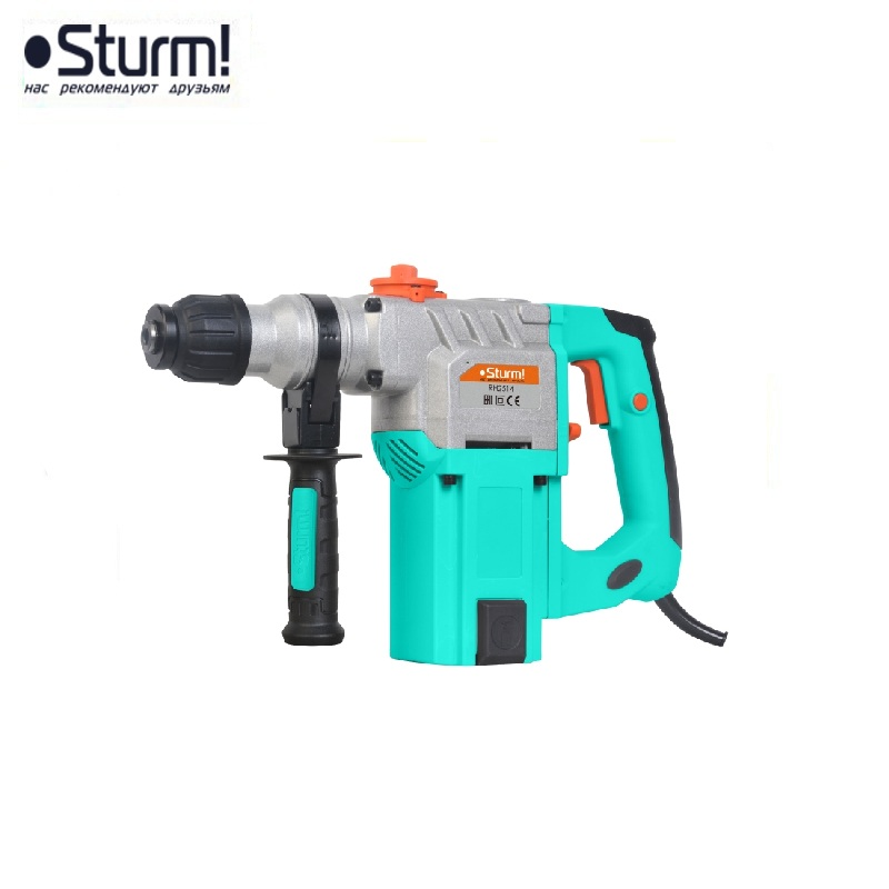 RH2514 Sturm Rotary hammer, 1400 W, 3 modes, 0-4200 bpm, 0-800 rpm, case Jackhammer Drilling and Grooving operation Drilling id2195p hammer drill pros sturm 1000 w 0 2700 rpm 0 45900 bpm percussion drill boring hammer drilling in concrete