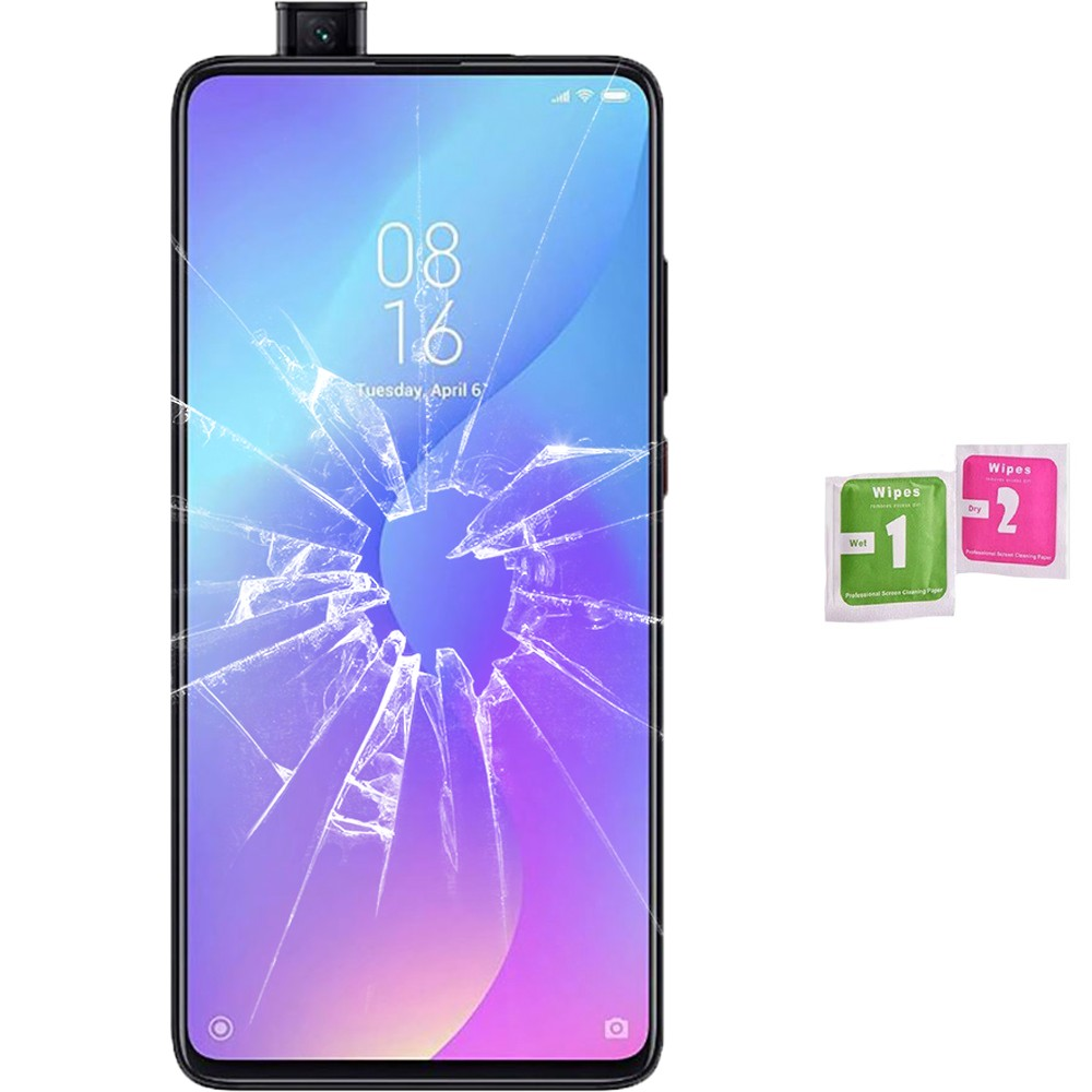 Protector Screen Tempered Glass For For Xiaomi MI 9G PRO (Generico, Not Full SEE INFO) WIPES