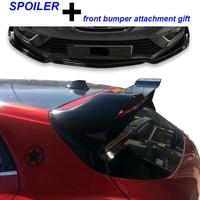 For Renault Megane 4 Spoiler Hatchback RS Spoiler Unpainted + Front Bumper Attachment 2016 + Spoilers & Wings     -