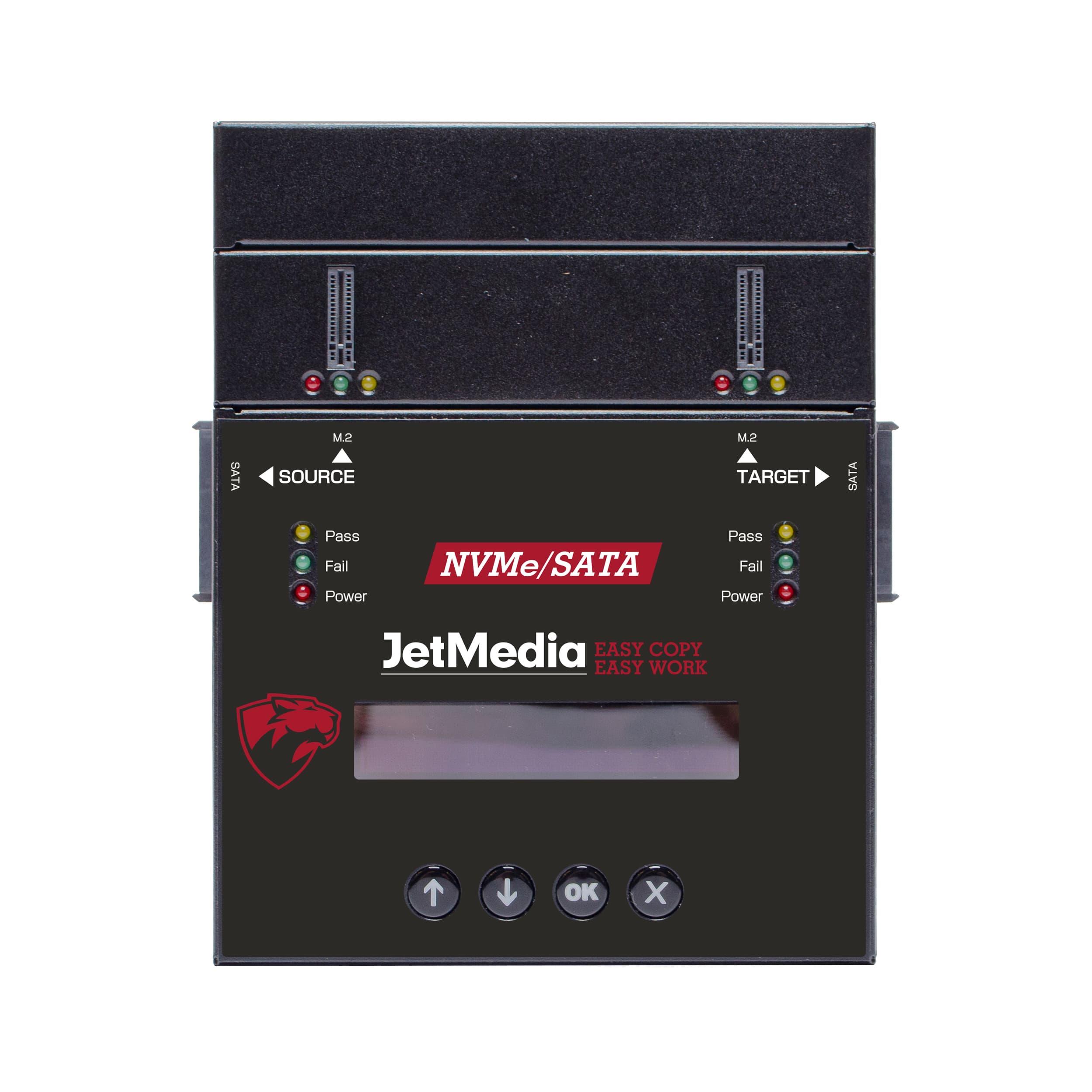 M2 NVMe SSD PC-Link Duplicator JetMedia NV281 SATA M2 Cross-Interface PC-Link Duplicator HDD/SSD copier