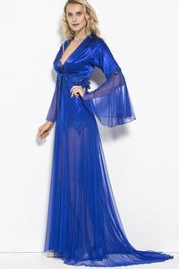 Far Drams 5011 2 шт женский Тюль сатин длинный Ruched Теплый Прохладный Ночная рубашка вешалка ночная рубашка халат