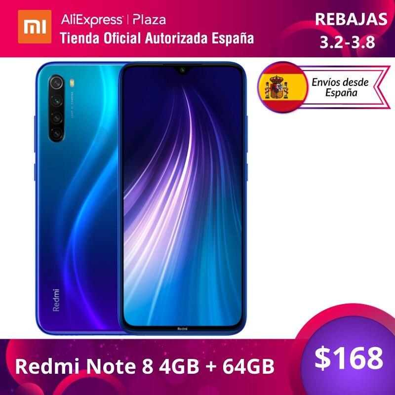 Xiaomi Redmi Note 8 (64GB ROM con 4GB RAM, Snapdragon™ 665, Android, Nuevo, Móvil) [Teléfono Móvil Versión Global para España] note8