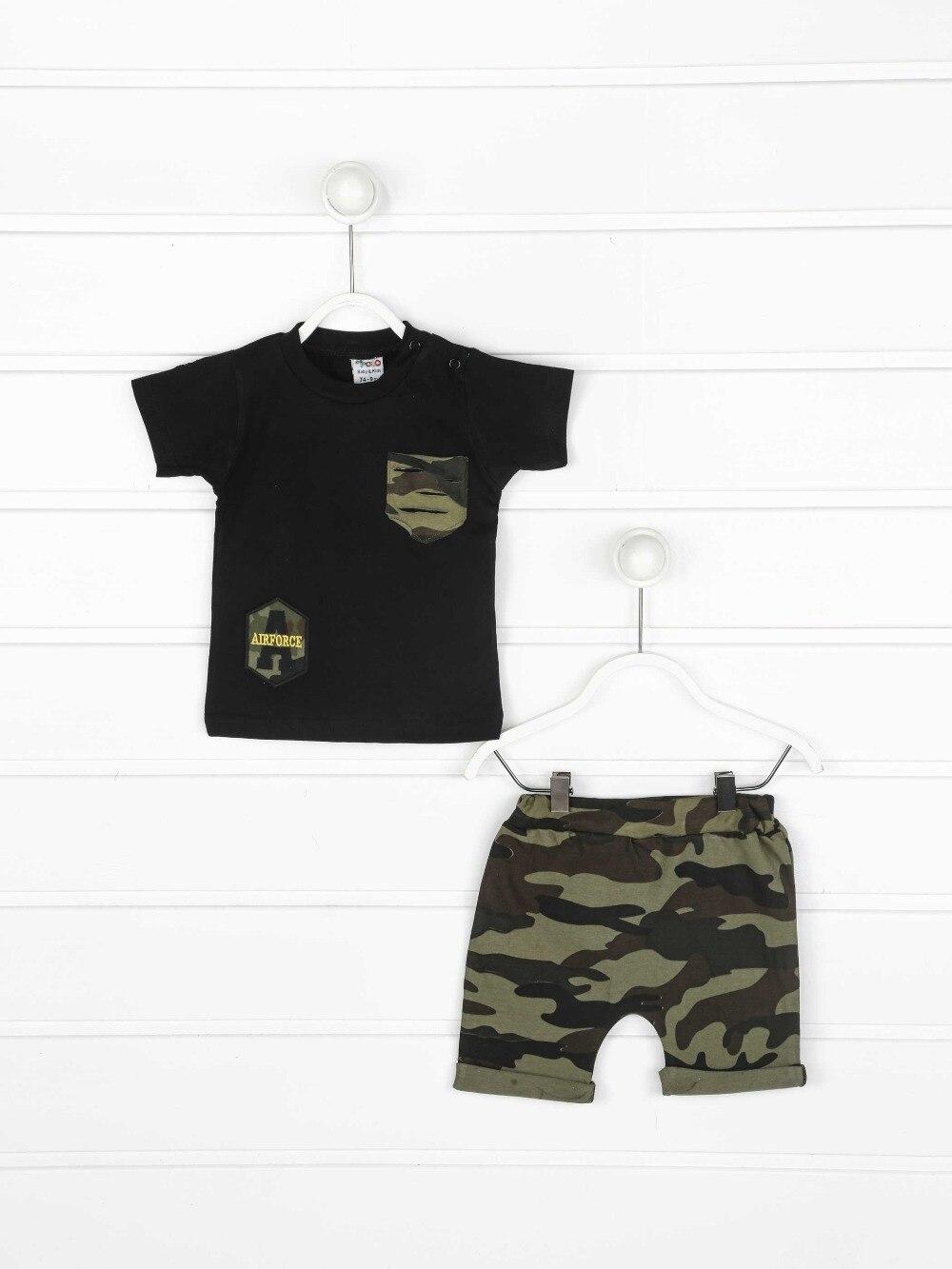 082-8717-038 Siyah Kamuflaj Erkek Bebek Şortlu Takım (1)