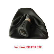 For Bmw 1 Series E81 E82 E87 E88 E90 E91 E92 E93 LHD Car Shift Knob Gear Knob Leather Boot Car Styling Accessories car automatic led gear shift knob for bmw e90 e91 e93 e81 e82 e84 e87 e88 e89 lhd leather plastic