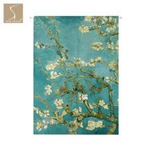 Миндалевидное дерево, японский Норен, занавеска для двери, занавеска для дома, офиса, ресторана, кухни, занавеска, декор для комнаты, занавеска