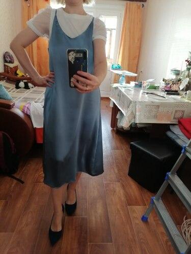 Toppies 2021 Women Satin Dress Party Luxury Shiny Sundress Sexy Imitation Silk Fashion Ladies Dress|Dresses|   - AliExpress
