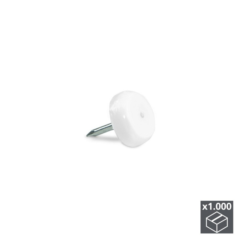 Lot Of 1.000 Sliding Tipped For Furniture Emuca With White Finish