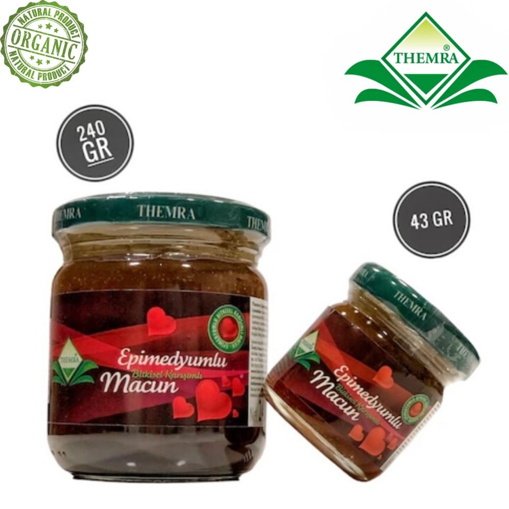 Themra Epimedium Turkish Honey Mix Macun Horny Goat Weed Ginseng Herbal Aphrodisiac– Turkish Paste, 240 Gr. + 43 Gr.