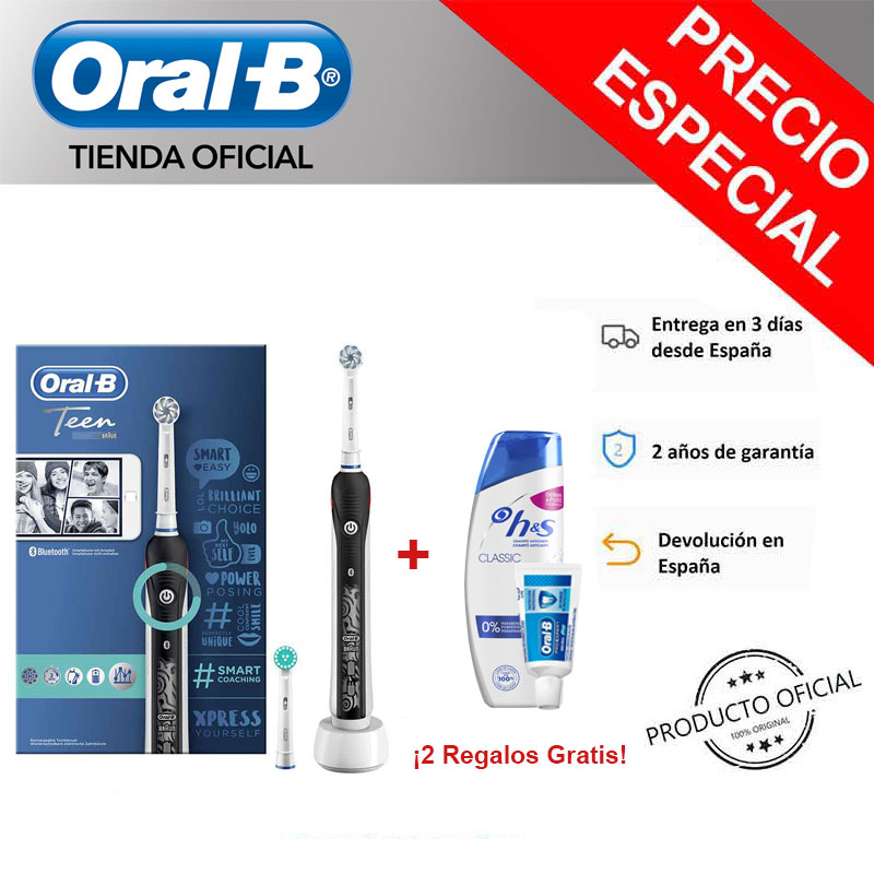 Oral B Smart Series Teen, Junior (6 +) toothbrush Electric + Gift sampoo H & S and paste theeth image
