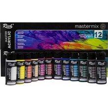 Ensemble de pinceaux professionnels pour peinture acrylique, couleurs 60ml, pour débutants, fournitures d'art résistantes à l'eau, 1/6/12 pièces