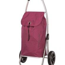 Shopping cart Playmarket Go Two Plum, 2 wheels, folding