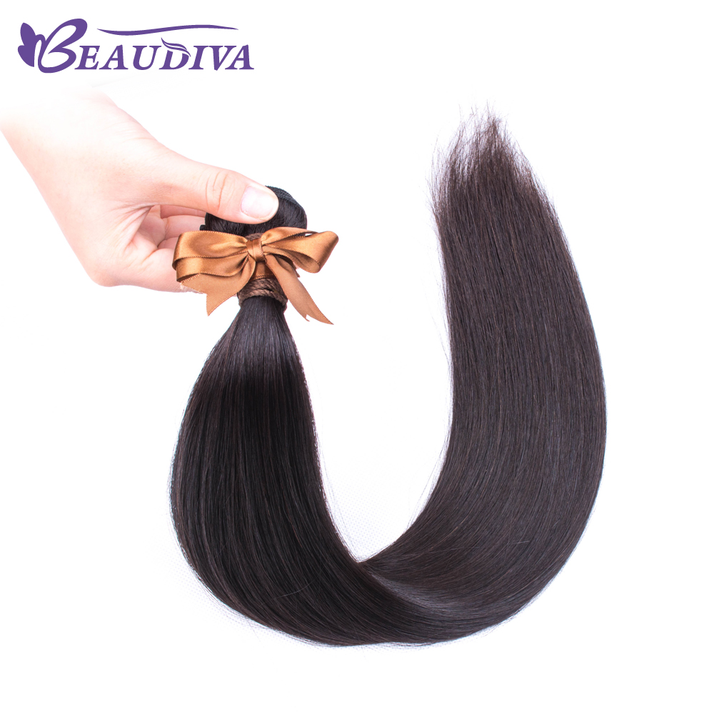 Uaf82fa86f3fb42299fa80aab2c11c166Y BEAUDIVA Human Hair Bundles With Closure Natural Color Peruvian Straight Hair Weave Bundles With Closure