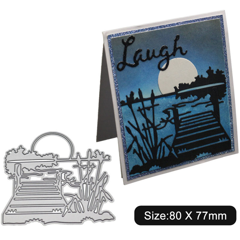 Restle And Sunset Frame Metal Cutting Dies For DIY Scrapbooking Steel Craft Die Cuts Paper Art Emboss Card Making Stencil