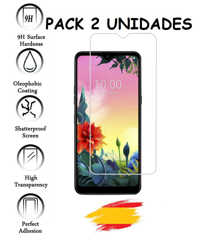 2X Protector For LG K50S Tempered Glass Crystal Shockproof 9 H, 2 Units