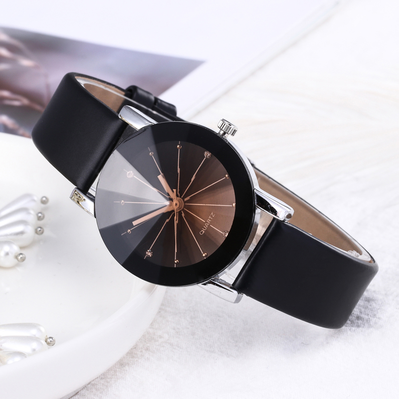 WJ-5223 Rhinestone Ladies Fashion Watch Luxury Couple Watches Men Quartz Wristwatch Classic Lover's Watches Leather Strap reloj