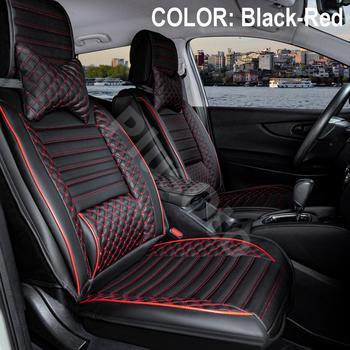 Luksusowe skórzane pokrycie siedzenia samochodu 1 klasa jakości 5 sztuka zestaw uniwersalny łatwy montaż nadaje się do wszystkich samochodów osobowych tanie i dobre opinie Stil Plus Cztery pory roku Sztuczna skóra 55cm 65cm Pokrowce i podpory 30cm