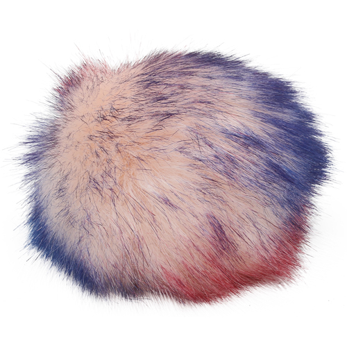 5as-269 Pompom Made Of Artificial Fur 12 Cm (6 Pink Multicolor)
