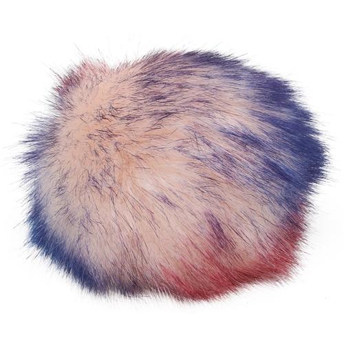 5as-269 Pompom Made Of Artificial Fur 12 Cm (6 Pink Multicolor)