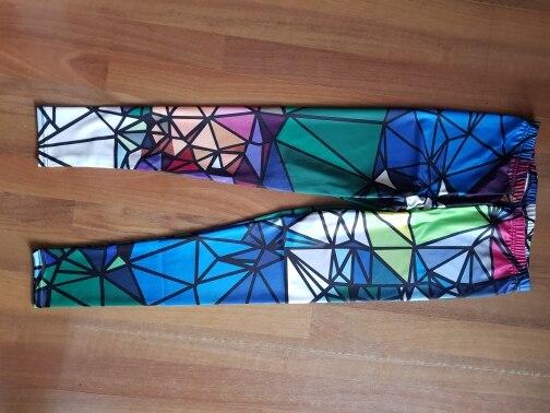 Qickitout Leggings Sample Women's Diamond Color Stitching Leggings Digital Print Pants Trousers Stretch Pants Plus Size DropShip|stitch leggings|leggings plusplus leggings - AliExpress