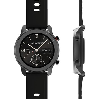 Xiaomi Huami Amazfit GTR 42mm Smartwatch (smart Watch, Bluetooth, GPS, קרמיקה טבעת לוח, ספורט) [הגלובלי גרסה]