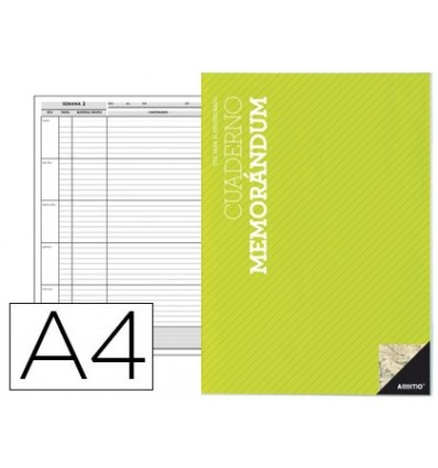 NOTEPAD MEMORANDUM ADDITIO A4 PLANNING WEEKLY COURSE