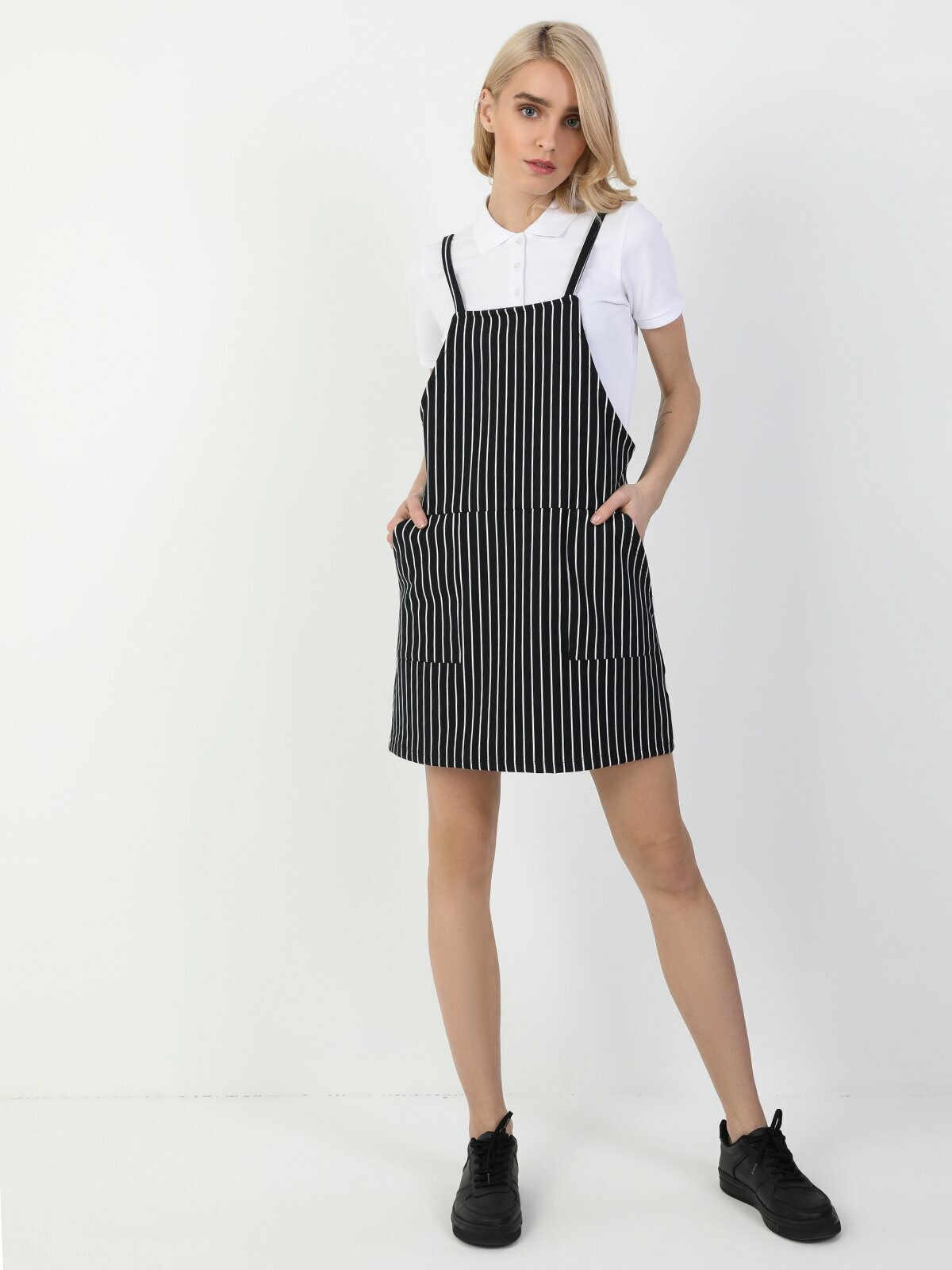 Colins Woman Regular Fit Navy Dress ,CL1048625