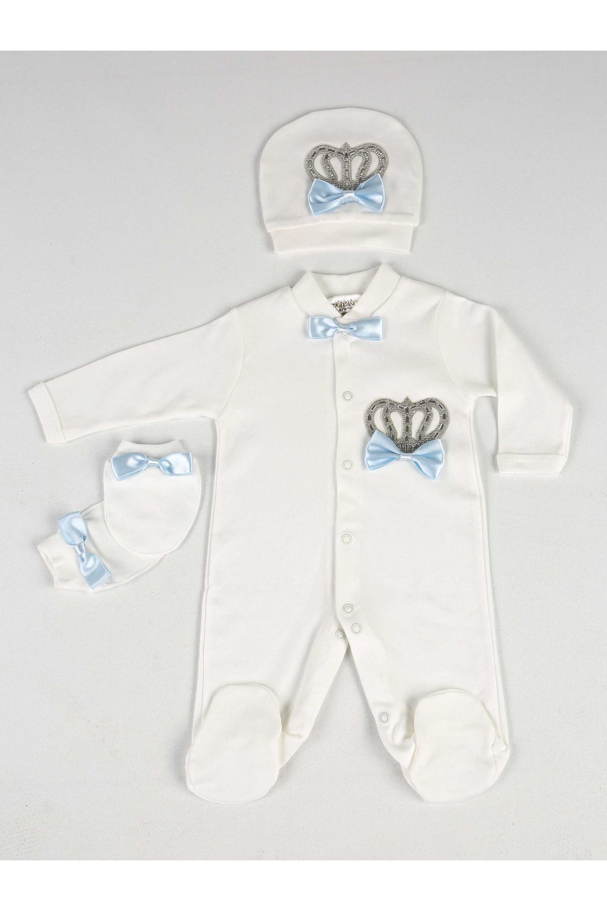 White King PCs Set Male Baby Rompers