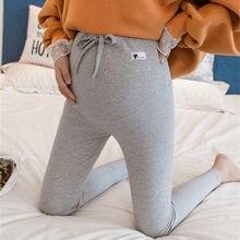 Calças de maternidade macio fino ajustável cintura grávida leggings roupas de gravidez calças ropa mujer embarazada premama