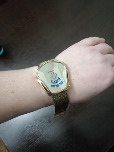Relógio Geométrico Aço Inoxidável Masculino - Binbond photo review
