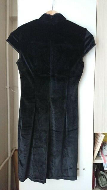Gothic Women'S Dress Cheongsam Chinese Style Skinny Mini Dress Streetwear Sexy Vintage Harajuku Summer Women Clothing Slim Black photo review