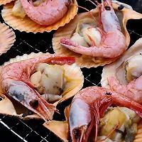 芝士烤加拿大北极虾扇贝的做法图解7