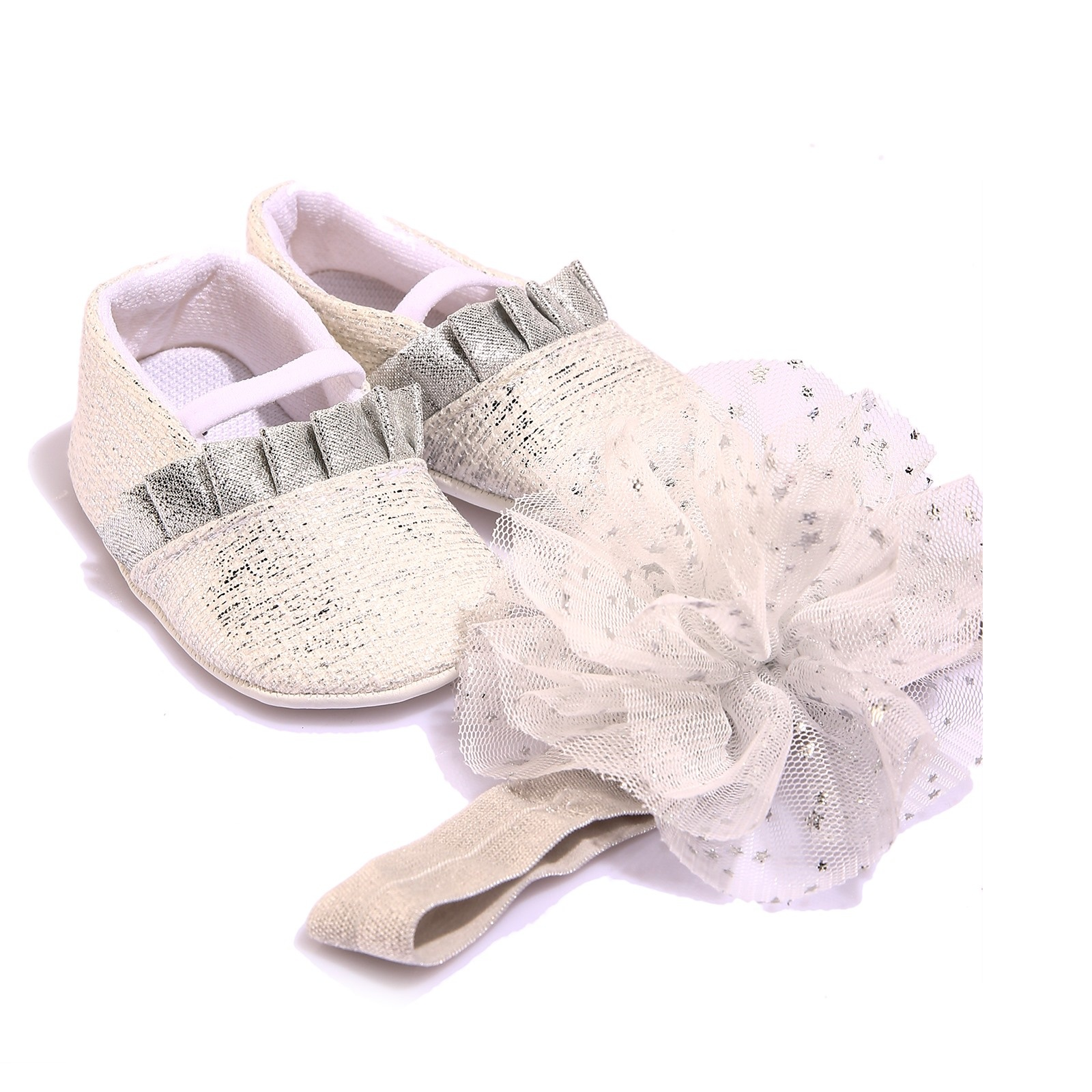 Ebebek Funny Baby Shoes And Hairband