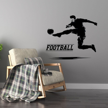 Football Soccer Man Wall Stickers Silhouette Decal Design Home Sports for Boys room Decor A0042
