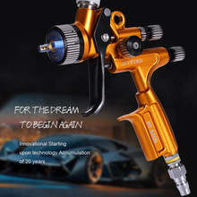 Pistola de pintura ponta 1.3mm hvlp rp airbrush edição limitada hyfire hy5200 pistola profissional ferramentas reparo do carro