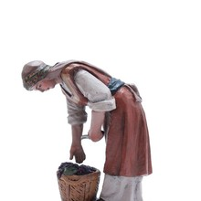 Scene Christmas-Nativity Birth Replica Worker Harvester Manger J.l.mayo BEL100 Vintage